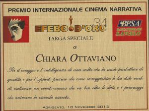 Cinema Efebo d'oro targa speciale Chiara Ottaviano 2012